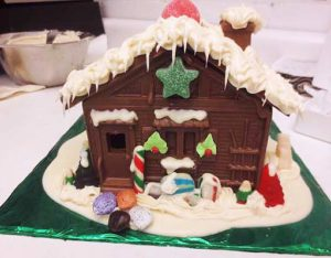 christmas chocolate ginger bread house