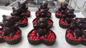 Chocolate Heart Teddy Bears